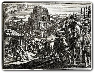 Nimrod baut den Turm zu Babel