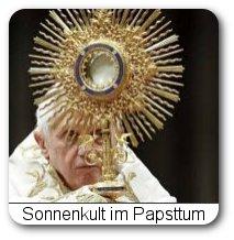 Papst mit Monstranz