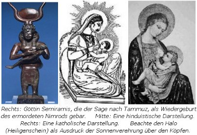 Mutter Gottes Maria/Ischtar/Isis