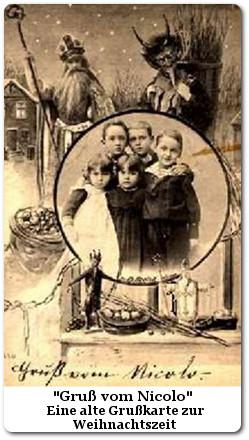 Eine alte Grußkarte vom Nikolaus