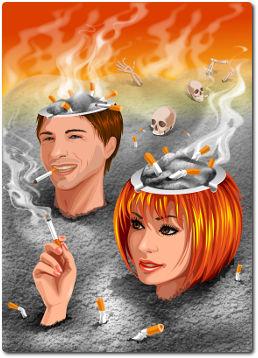 Die Selbstzerstörung des Rauchens